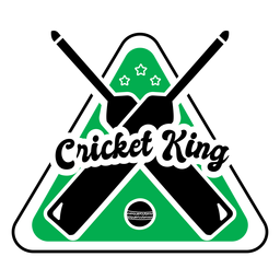 Cricket king bat ball star badge sticker