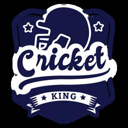 Cricket King Helm Sterne Abzeichen Aufkleber