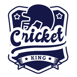 Cricket king helmet star badge sticker