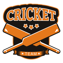 Cricket team bat star badge sticker