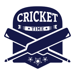Cricket Time Bat Star Badge