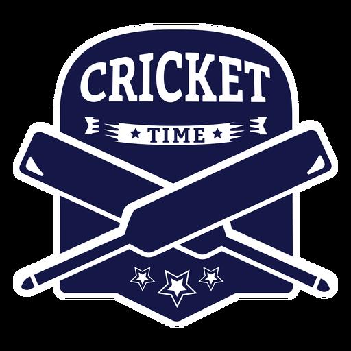 Cricket time bat star badge sticker Transparent PNG