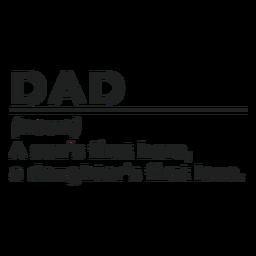 Pai substantivo o primeiro herói de um filho o primeiro adesivo de distintivo de amor de uma filha
