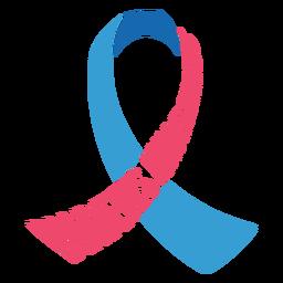 Etiqueta engomada de la insignia de la cinta de la conciencia de la diabetes