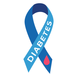 Diabetes ribbon drop badge sticker