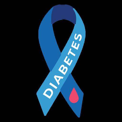 Etiqueta de distintivo de gota de fita de diabetes - Baixar PNG/SVG Transparente