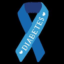 Etiqueta engomada de la insignia del corazón de la cinta de la diabetes
