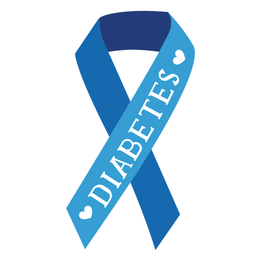 Autocolante de emblema de fita de diabetes Transparent PNG