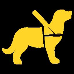 Silhueta detalhada de guia de cão guia
