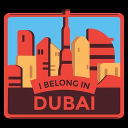 Adesivo de Dubai eu pertenço em dubai