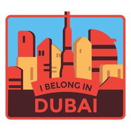 Dubai i belong in dubai sticker