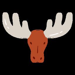 Alce cuerno de alce plano