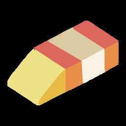 Eraser rubber flat