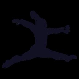Silhueta de mulher de ginasta exercício