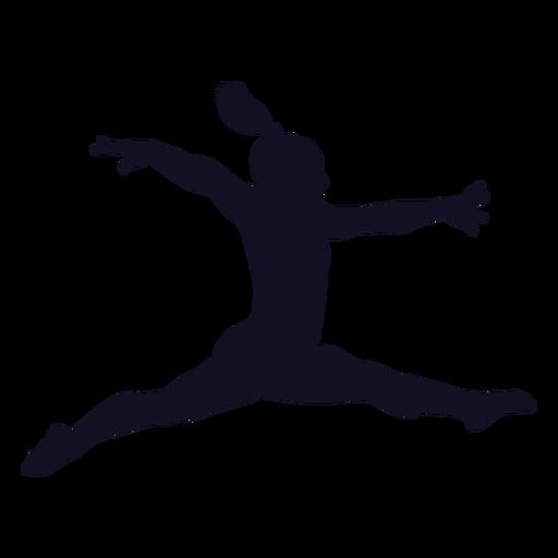 Ejercicio gimnasta mujer silueta Transparent PNG