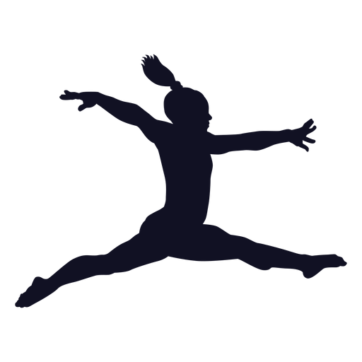 Exercise gymnast woman silhouette