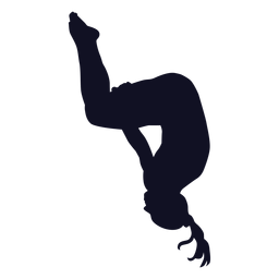 Ejercicio gimnasta mujer silueta salto mortal