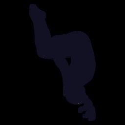 Silhueta de cambalhota de mulher ginasta