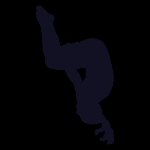 Ejercicio gimnasta mujer silueta salto mortal Transparent PNG