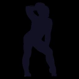Exercício postura mulher ginasta silhueta