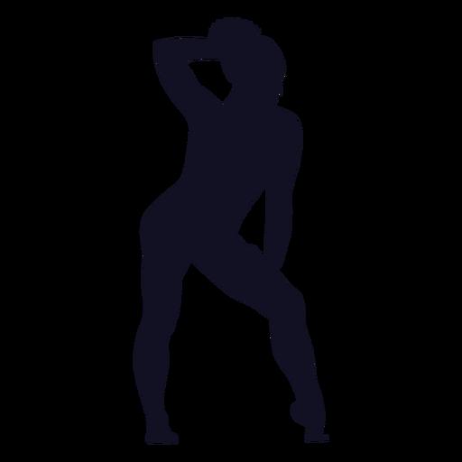 Ejercicio postura mujer gimnasta silueta