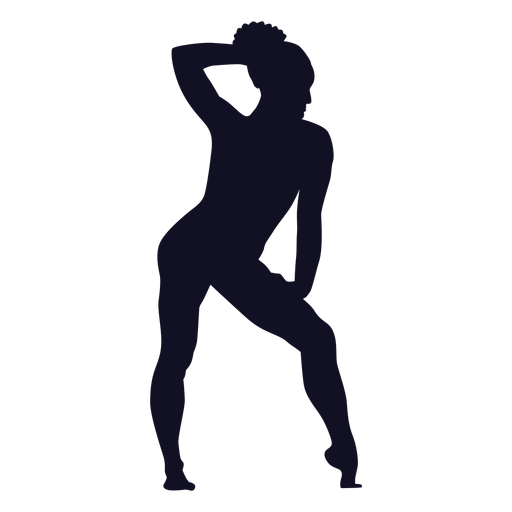 Exercise posture woman gymnast silhouette