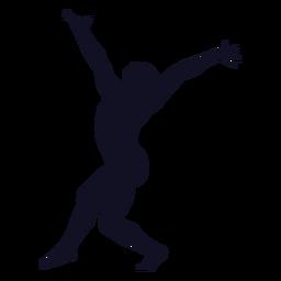 Ejercicio mujer gimnasta silueta
