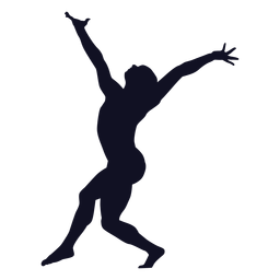 Exercise woman gymnast silhouette