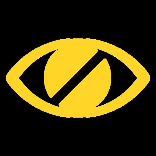 Eye blind pupil badge sticker Transparent PNG