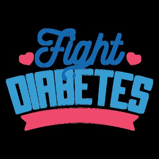 Fight diabetes badge sticker Transparent PNG