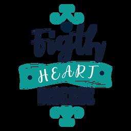 Etiqueta engomada de la insignia de la lucha contra la enfermedad cardíaca