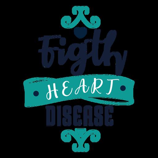 Fight heart disease badge sticker