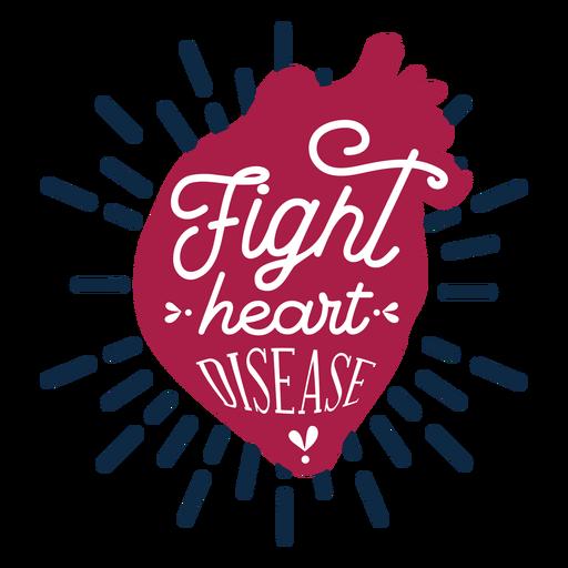 Fight heart disease heart badge sticker