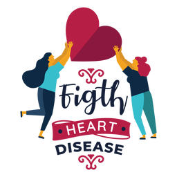 Fight heart disease heart woman badge sticker
