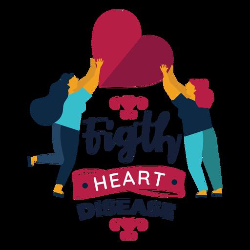 Fight heart disease heart woman badge sticker