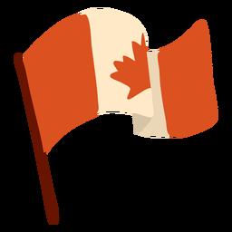 Bandeira canadá folha maple plana