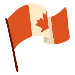 Flag canada leaf maple flat