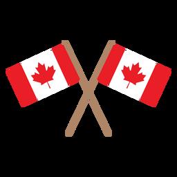 Bandera de hoja de arce insignia