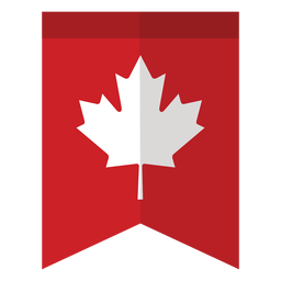 Etiqueta engomada de la bandera de la hoja de arce
