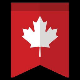 Flag maple leaf badge sticker
