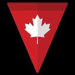 Bandera del triángulo de la hoja de arce insignia