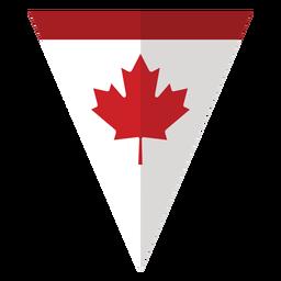 Etiqueta engomada de la insignia de la hoja de arce del triángulo de la bandera