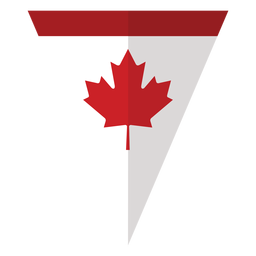 Flag triangle maple leaf badge sticker