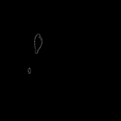 Tatuaje de silueta detallada de pico de flamenco Transparent PNG