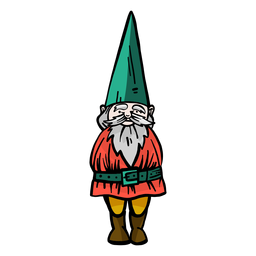 Gnome dwarf beard cap flat