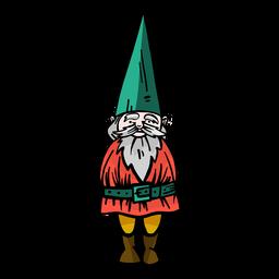 Gorra de barba enana gnome plana
