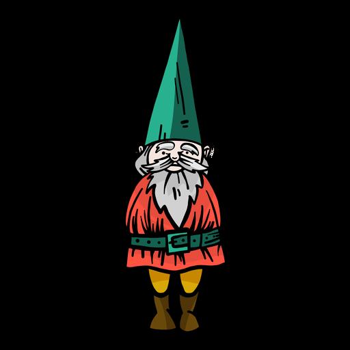Gnome dwarf beard cap flat Transparent PNG