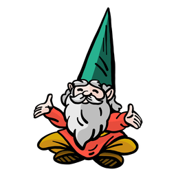 Gnome dwarf beard cap sitting flat