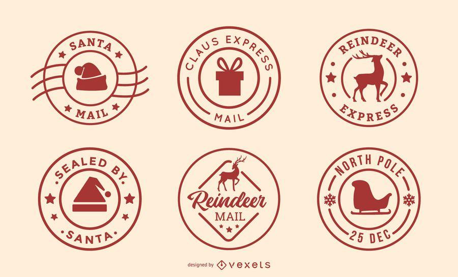 Christmas postages set