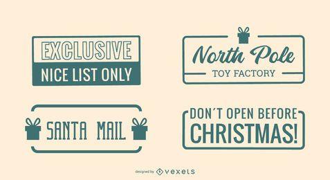 Conjunto de cotações de postagem de Natal